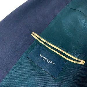 Burberry T Model Kensington Navy Suit Jacket